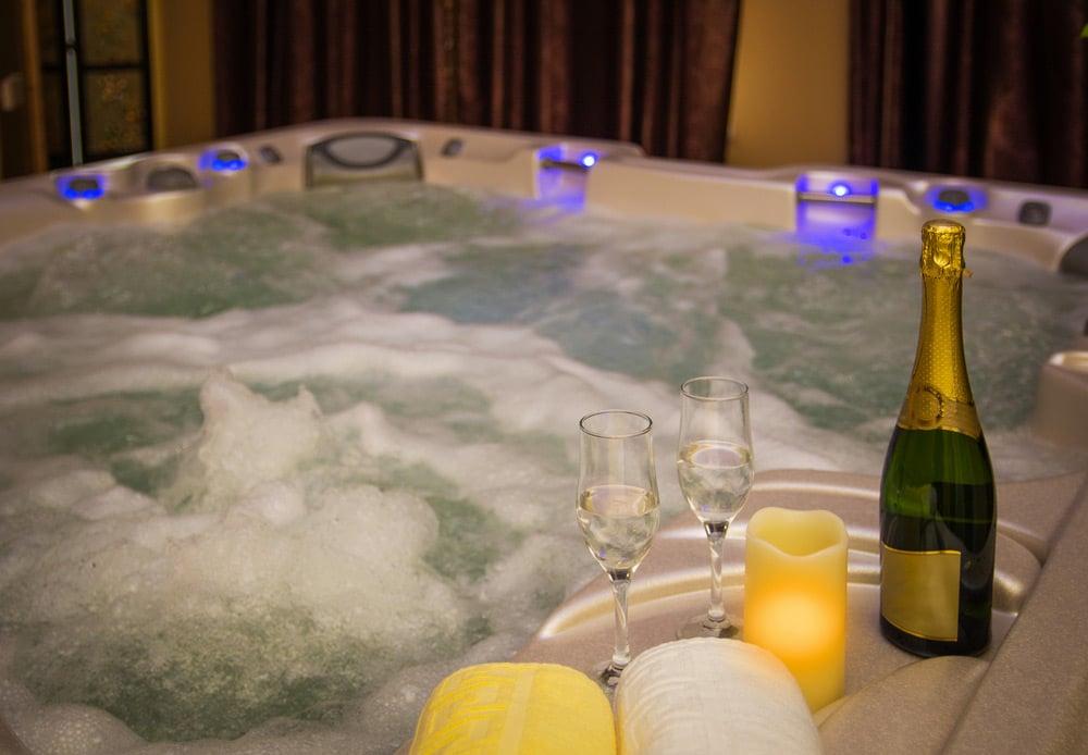 Spa en intérieur avec Champagne